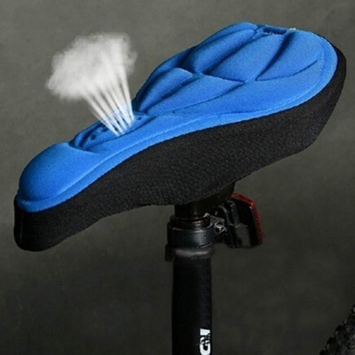 Zinniaya Suave 3D Acolchado Ciclismo Bicicleta MTB Sill/ín de Bicicleta Funda de Asiento Coj/ín Esponja Espuma Sillines c/ómodos Colchoneta Coj/ín Colchoneta Exterior