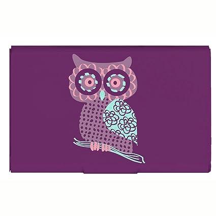 Amazon business card holder purple owl aluminum flip case business card holder purple owl aluminum flip case credit card holder designer card case colourmoves