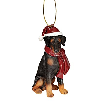 Amazon.com: Christmas Ornaments - Xmas Doberman Pinscher Holiday Dog ...
