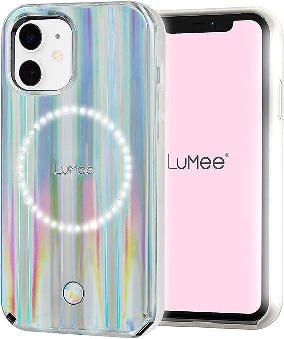 LuMee Halo by Paris Hilton - Holographic - Coque pour iPhone 12 Mini (5G) - Éclairage pour Selfie et Arrière - 5,4