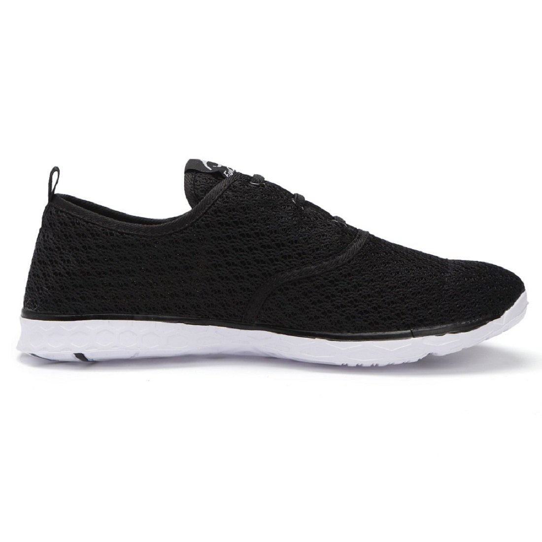 eyeones Womens Water Shoes Swim Sneakers Athletic Shoes Sport Slip On Surfing Quick Drying Mesh Rafting Walking Shoes Black White 8.5 Women US SW04W-BW7