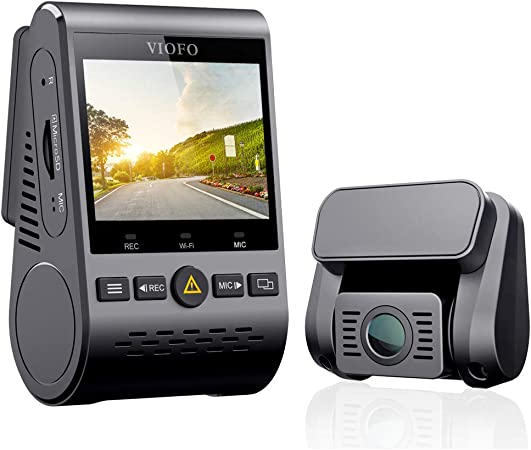 VIOFO Dual Dash Cam A129 Duo Full HD 1080P Front and Rear Camera with GPS Wi-Fi Compact Design 2.0 LCD Display 140 Wide Angle, Emergency Recording, Parking mode, Super Capacitor,Motion Detection,WDR