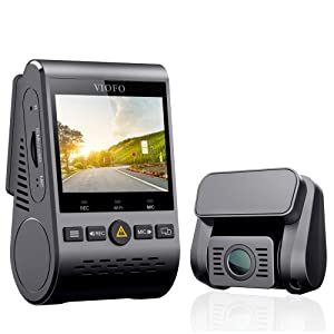"VIOFO Dual Dash Cam A129 Duo Full HD 1080P Front and Rear Camera with GPS Wi-Fi Compact Design 2.0"" LCD Display 140° Wide Angle, Emergency Recording, Parking mode, Super Capacitor,Motion Detection,WDR"