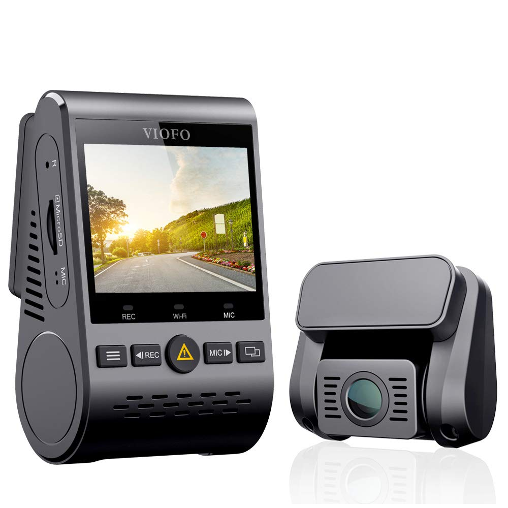 VIOFO Dual Dash Cam A129 Duo Full HD 1080P Front and Rear Camera with GPS Wi-Fi Compact Design 2.0'' LCD Display 140° Wide Angle, Emergency Recording, Parking mode, Super Capacitor,Motion Detection,WDR