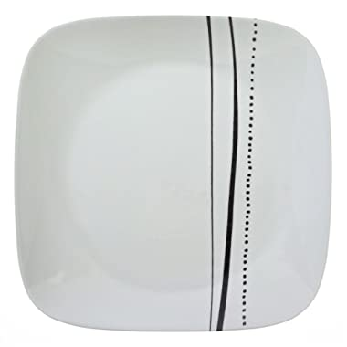 Corelle Square Cascading Lines 10.25  Plate (Set of 4)