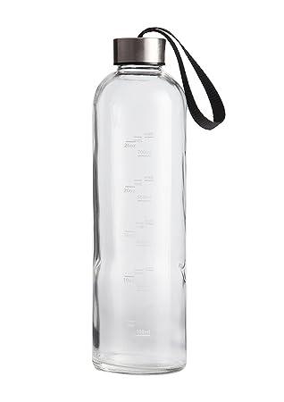 xtremeglas hidrato botella de repuesto 32 oz botella de agua de vidrio con tapa de negro