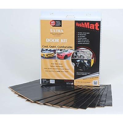 HushMat 10200 Ultra Black Foil Door Kit with Damping Pad - 10 Piece: Car Electronics