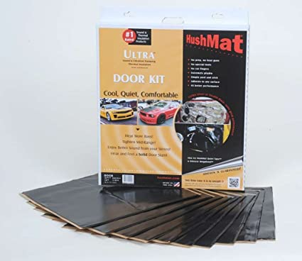 10 Piece HushMat 10200 Ultra Black Foil Door Kit with Damping Pad