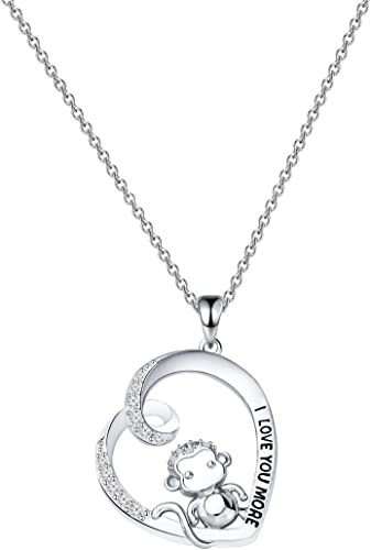 Fashion Animal Horse Heart Love Silver Tone Pendant  Necklace Friendship Gifts