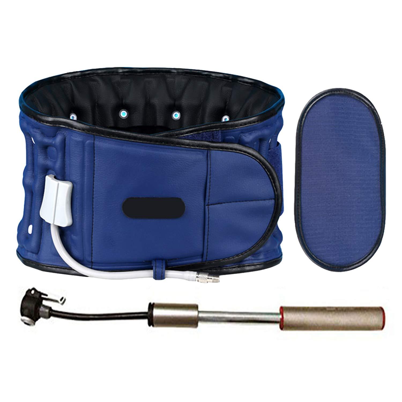 Inflatable Decompression Belt,Back Brace Posture Corrector For Improving Low Back Pain. (Blue)