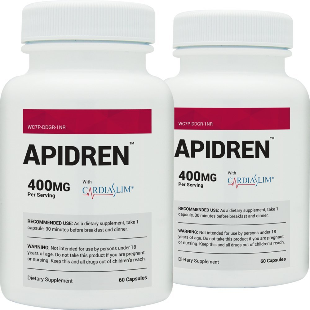 Apidren (2 Bottles) - Best Diet Pill for Healthy Weight Loss (60 Caps)