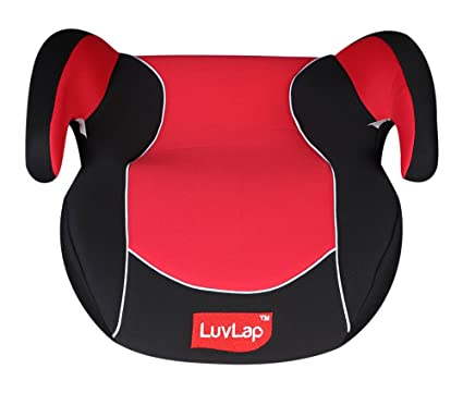 Luv Lap Backless Booster Baby Car Seat Red