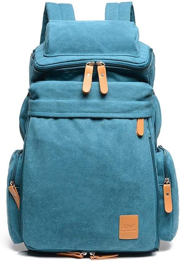 "Color : Brown, Size : L LHQ-Camera Bag Durable Unisex Retro Canvas Backpack Rucksack School College Shoulder Canvas Handbag 14/""Laptop Daypack Tote Bag Camera Bag"