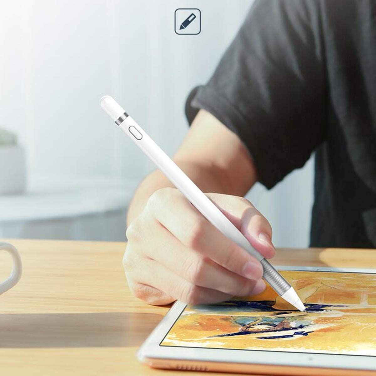 Pure Copper Pen Drawing Design Color : White Tablet and Mobile Phone Universal Active Capacitive Pen White Compatible with iOS//Android//Windows System Haoyushangmao Stylus