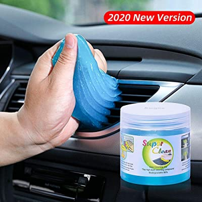 King Ma Car Interior Cleaner - Keyboard Cleaning Gel for Car Detailing Tools Automotive Dust Air Vent Detail Removal Universal Dust Cleaner for Auto Laptop Home: Automotive