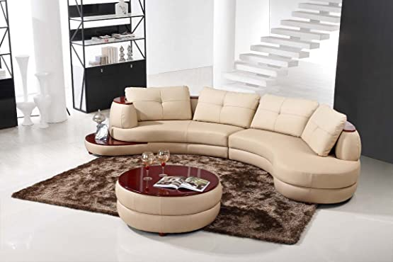 Modern Beige Sectional Sofa Furniture