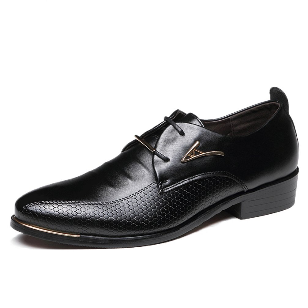 Phil Betty Men's Dress Shoes,slip on Black Brown Classic Point Toe Oxfords by Phil Betty