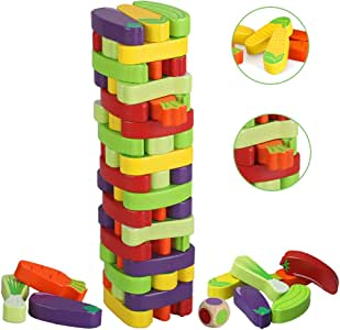 BeebeeRun Juego de Torre de Bloques de Madera,Juegos de Mesa Niños Adulto, Juego niño 3 años más: Amazon.es: Juguetes y juegos