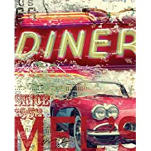 """MELS DINER by Eric Yang - 14"""" x 18"""" Giclee Canvas Art Print"""