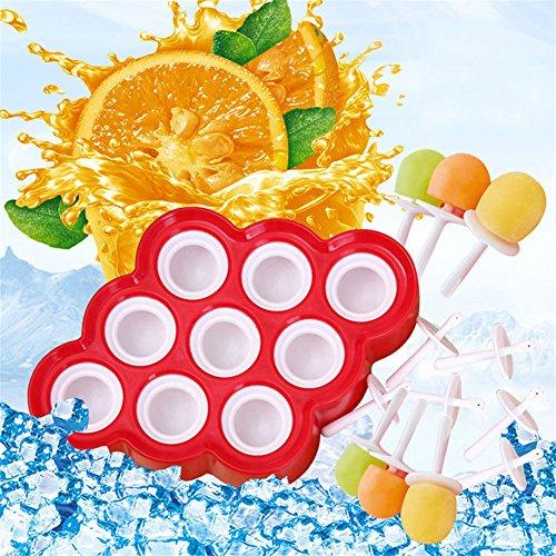 Compra bravolotus Mini Ice Pop 9 de alta quaity Popsicle Mold Maker Frozen Postre dulces silicona DIY molde Nuevo en Amazon.es