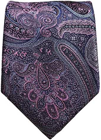 Rock Ridge Grey and Pink Silk Tie Set by Paul Malone