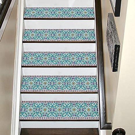 Carrelage Marocain Escaliers Autocollants 6pcs Set 3d Salon Paysage Fond Mur Maison Decoration Etanche Stickers Muraux Brique Amazon Fr Cuisine Maison