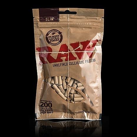 3000 Filtros Slim Raw naturales. 6x15mms. 15 bolsas de 200 ...