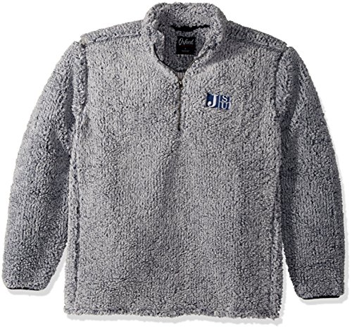 NCAA Jackson State Tigers Adult Men Owen 1/4 Zip Heather Sherpa Pullover, Small, Classic Navy