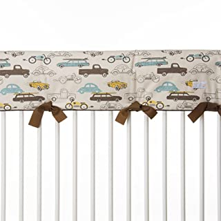Sweet Potato Traffic Jam Convertible Crib Rail Protector, Long