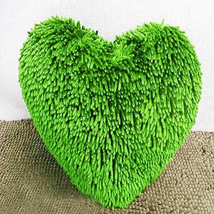 MEIDI Home Almohada de Felpa en Forma de corazón sofá ...