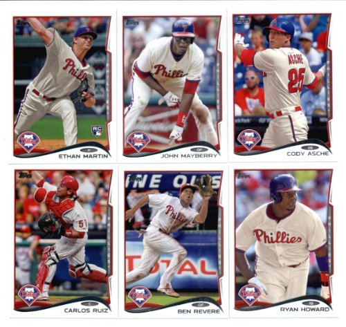 2010,2011,2012,2013 & 2014 Topps Philadelphia Phillies Baseball Card Team Sets (Complete Series 1 & 2 From All Five Years )
