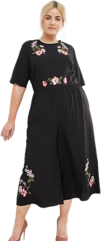 ouxiuli Womens Print Spaghetti Strap Wide Leg Long Pants Palazzo Summer Jumpsuit Rompers