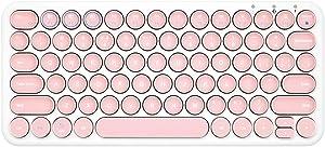 OUKB Teclado inalámbrico portátil Bluetooth Ordenador portátil Mac Teléfono Oficina Negocio Mini Mute Mini Chocolate (Color : Light Pink)