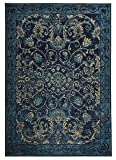 Modela Collection Vintage Medallion Design Traditional Oriental Area Rug Rugs (Navy Blue, 6'7'' x 9'2'')