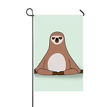 Amazon.com : Niaocpwy Sided Family Flag Sloth Vision Patterns ...