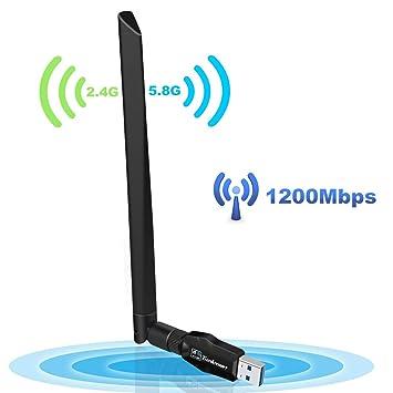 Amazon.com: thinkmart 600 Mbps Dual Band USB WiFi adaptador ...