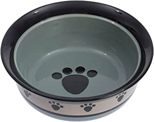Petrageous Designs Metro Hand-crafted Stoneware Deep Pet Bowl, 8 x 3-Inch, Pack of 4