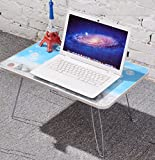 F&W Laptop Table Lazy Bed With Computer Desk Simple Folding Desk Children's Study Table Student Dormitory