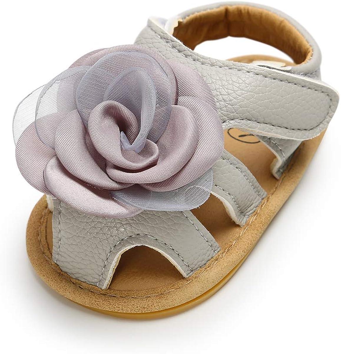 LACOFIA Sandali estive per Bambina Scarpe da Primi Passi per neonata con Fiore