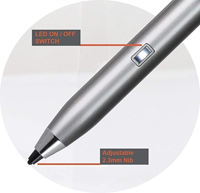 Broonel Grey Fine Point Digital Active Stylus Pen Compatible with The Lenovo SSD Gaming 15.6 inch
