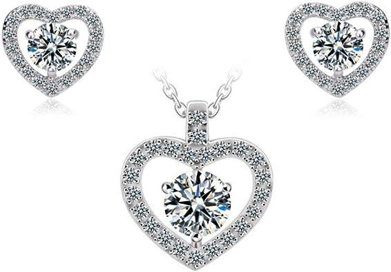 Cubic Zircon CZ Perles Collier Boucles d/'oreilles Bijoux Set Pour Femmes Mariage Cadeaux Set