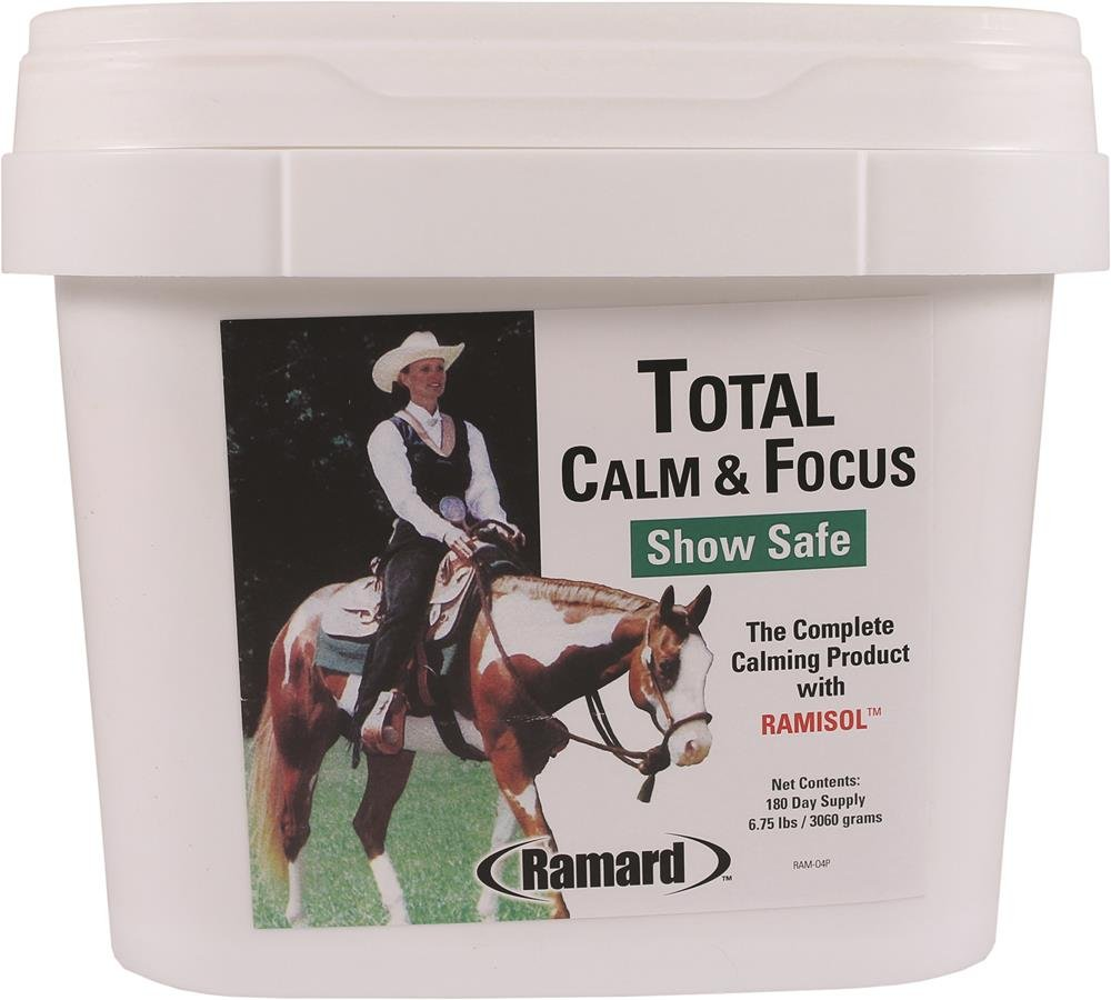 Ramard 079040 Total Calm & Focus Show Safe Supplement for Horses, 6.75 lb/180 Day by Ramard