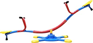 SLIDEWHIZZER Kids Outdoor Backyard Playground Seesaw: Swivels and Rotates 360 Degrees Teeter Totter at Home for Youth Junior Age 3 4 5 6 7 8