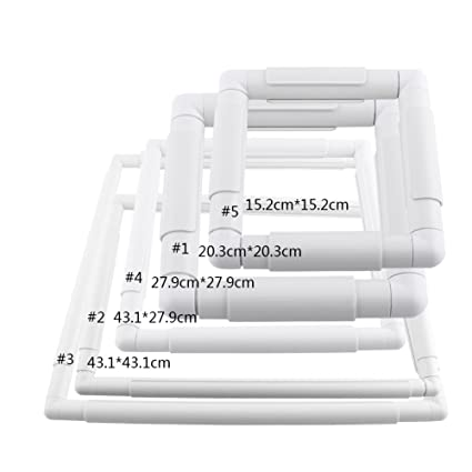 Amazon.com: Square Rectangle Plastic Clip Frame for Embroidery Cross ...