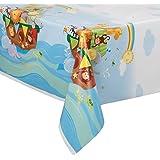 "Noah's Ark Baby Shower Plastic Tablecloth, 84"" x 54"""