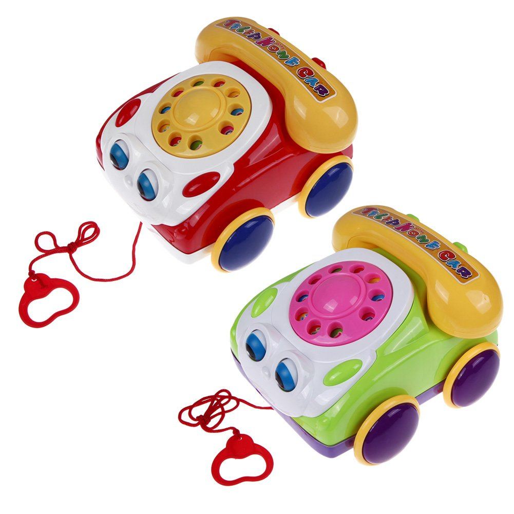 GreenSun TM Kids Fone Colorful Fun Music Phone Toy Basics Chatter Telephone Toys Toy Phone for Baby Walking Assistant