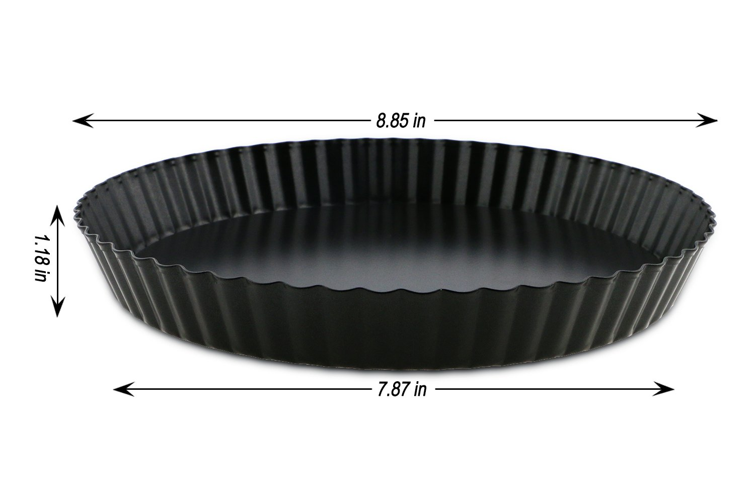 TedGem 2 Pack Non-Stick 8.8 Inches Removable Loose Bottom Quiche Tart Pan by TedGem (Image #2)