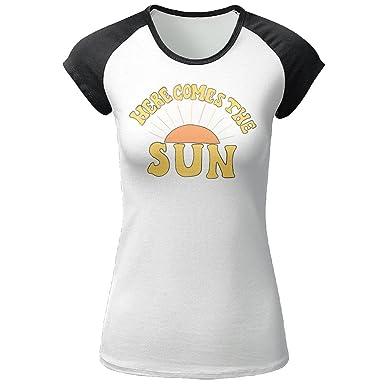 273d3340e78c BLACKY Here Comes The Sun Raglan Tee Short Sleeve Printed T Shirt Casual  Tops