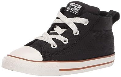 Converse Boys Infants' Chuck Taylor All Star Street Pinstripe Mid Top Sneaker, BlackGumEgret 9 M US Toddler