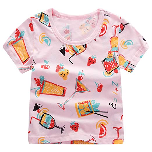 182d537ae Amazon.com: ❤ Mealeaf ❤ Children Kids Baby Girls Boys Cartoon Print T-Shirt  Tee Tops Clothes 12 Months-6Years: Clothing